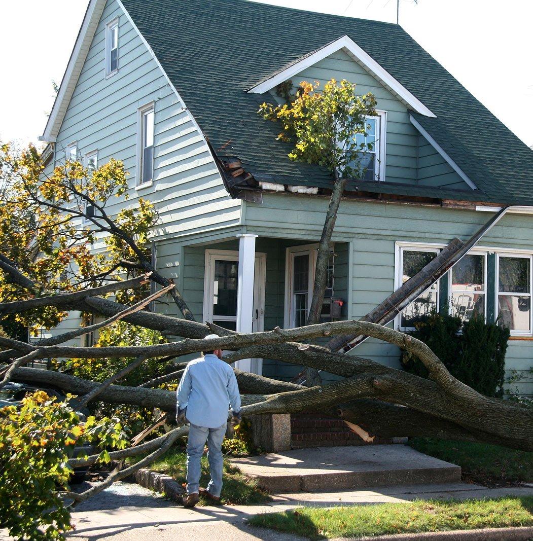 Alabama home roof damage